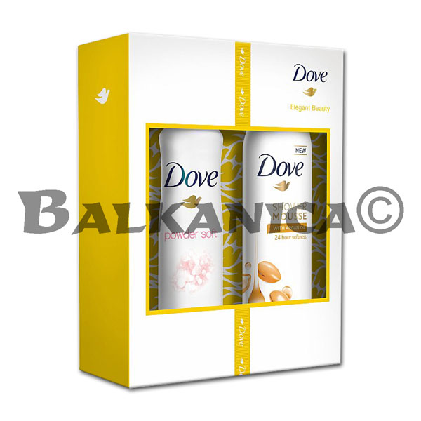CAJA REGALO ARGAN OIL (DEO SPRAY 150 ML+ESPUMA DUCHA 200 ML) DOVE