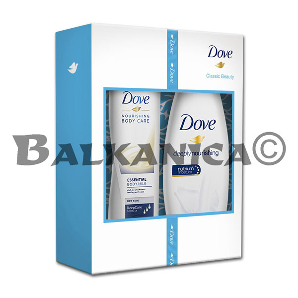 CAJA REGALO DEEPLY NOURISHING (GEL DUCHA 250 ML+LOCION CORP 250 ML) DOVE