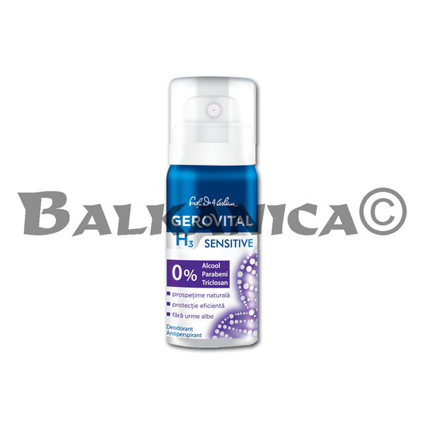 40 ML DESODORANTE ANTITRANSPIRANTE SENSITIVE MINI GEROVITAL H3