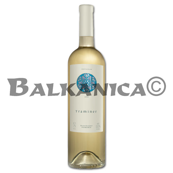 0.75 L WINE WHITE TRAMINER PENTAGRAM POMORIE