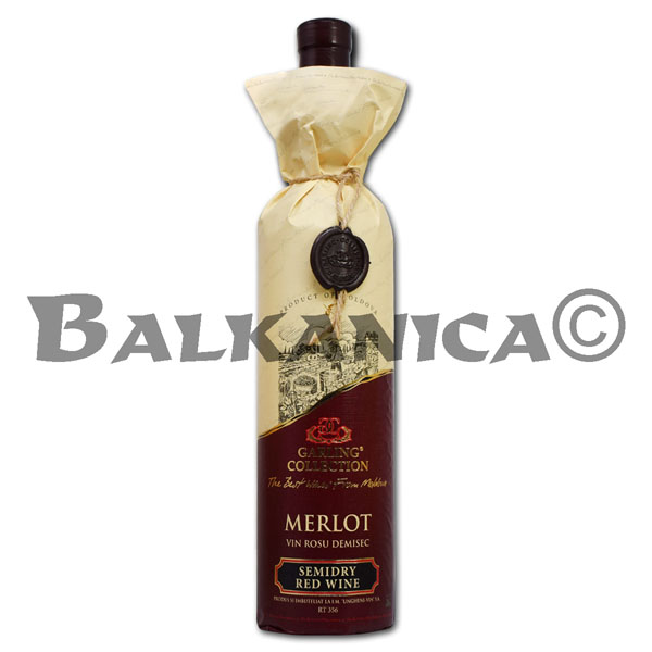 0.75 L VINO TINTO SEMISECO MERLOT RESERVA GARLING COLLECTION