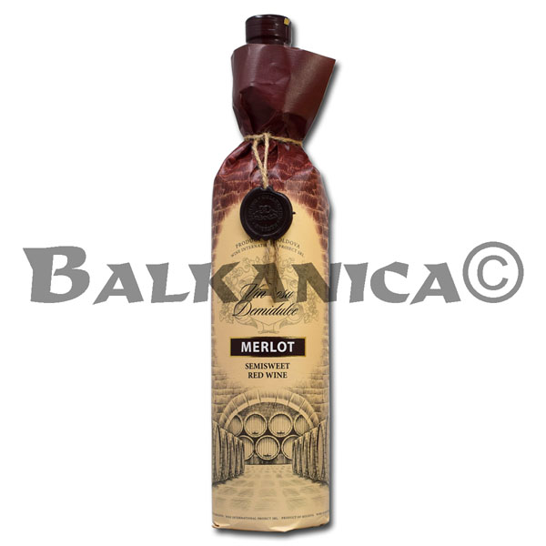 0.75 L VINO TINTO SEMIDULCE MERLOT RESERVA GARLING COLLECTION