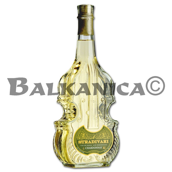 0.75 L VINO BLANCO SEMIDULCE CHARDONNAY VIOLIN STRADIVARI GARLING COLLECTION