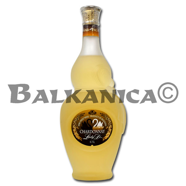 0.75 L VINO BLANCO SEMIDULCE CHARDONNAY LADY DI GARLING COLLECTION