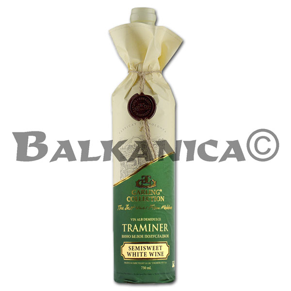 0.75 L VINO BLANCO SEMIDULCE TRAMINER RESERVA GARLING COLLECTION