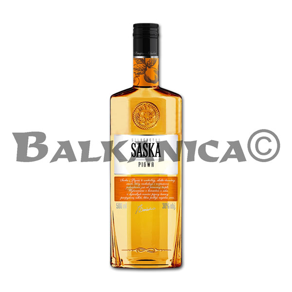 0.5 L VODKA MEMBRILLO SASKA 30%