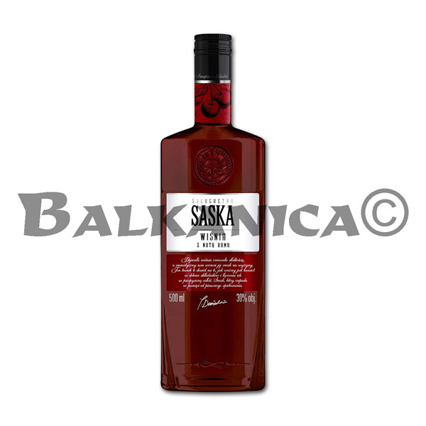 0.5 L VODKA GUINDA CON TOQUE DE RON SASKA 30%