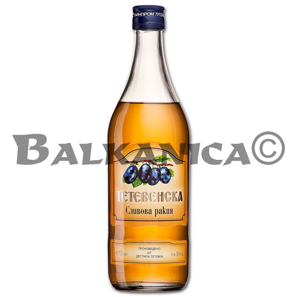 0.7 L AGUARDIENTE DE CIRUELAS SIMPLE TETEVENSKA 38%
