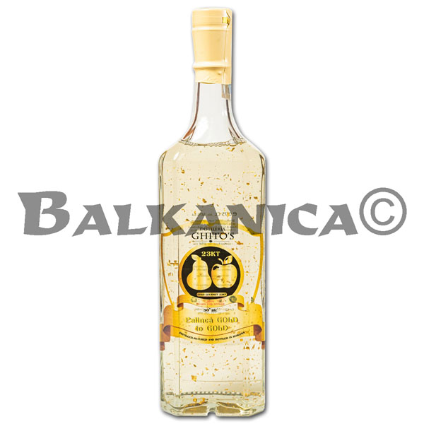 0.75 L AGUARDIENTE GOLD TO GOLD GHITO'S 50%