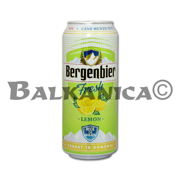 0.5 L BEER CAN FRESH LEMON BERGENBIER