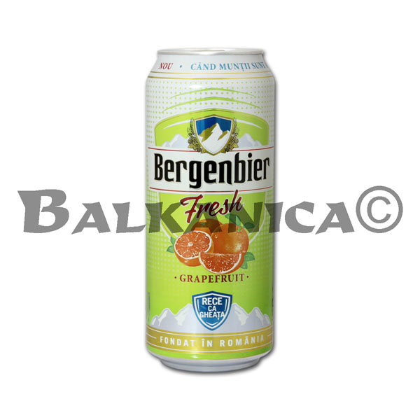 0.5 L BEER CAN FRESH GRAPEFRUIT BERGENBIER
