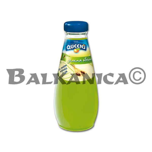 0.25 L ZUMO NATURAL MANZANA VERDE QUEEN'S