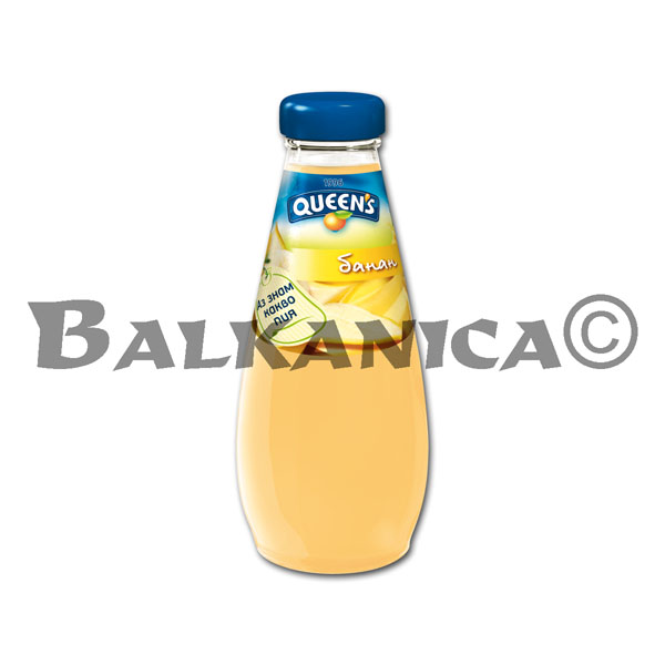 0.25 L ZUMO NATURAL PLATANO QUEEN'S