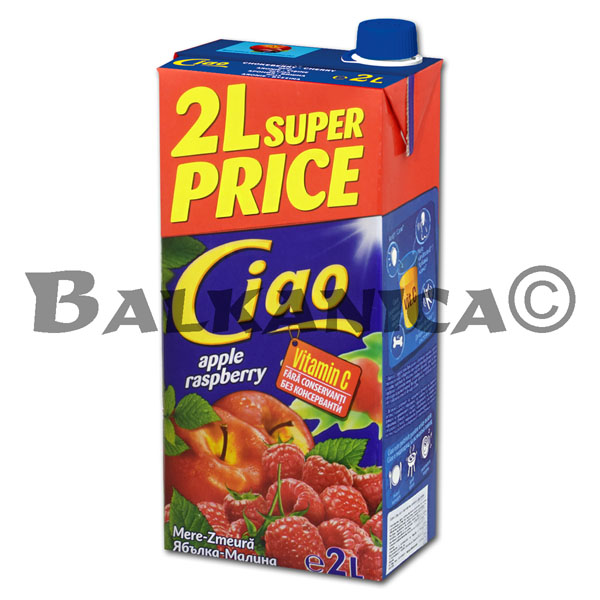 2 L JUICE APPLE AND RASPBERRY CIAO