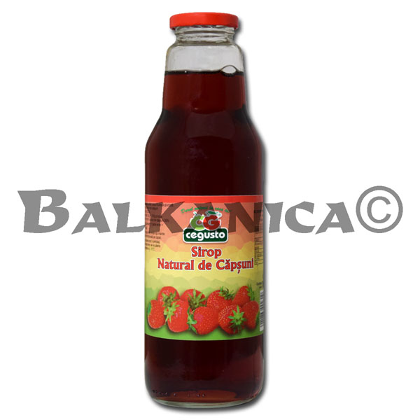 0.75 L SYRUP NATURAL STRAWBERRY CEGUSTO CENSERVFRUCT