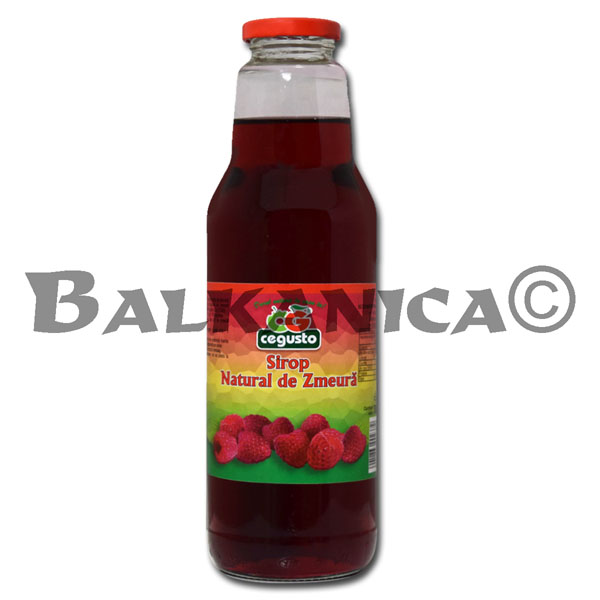 0.75 L SYRUP NATURAL RASPBERRY CEGUSTO CENSERVFRUCT