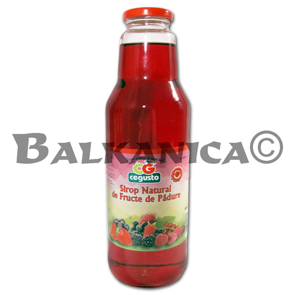 0.75 L SYRUP NATURAL BERRIES CEGUSTO CENSERVFRUCT