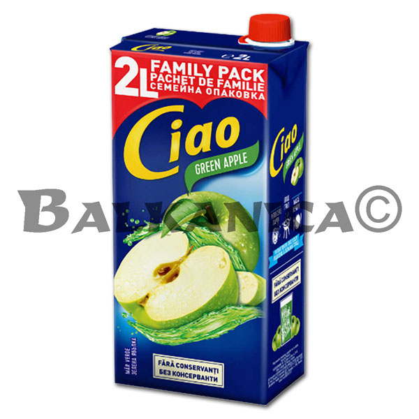2 L JUICE GREEN APPLE CIAO