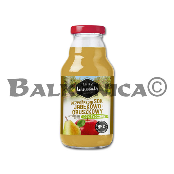 0.33 L JUICE NATURAL APPLE AND PEAR SADY WINCENTA